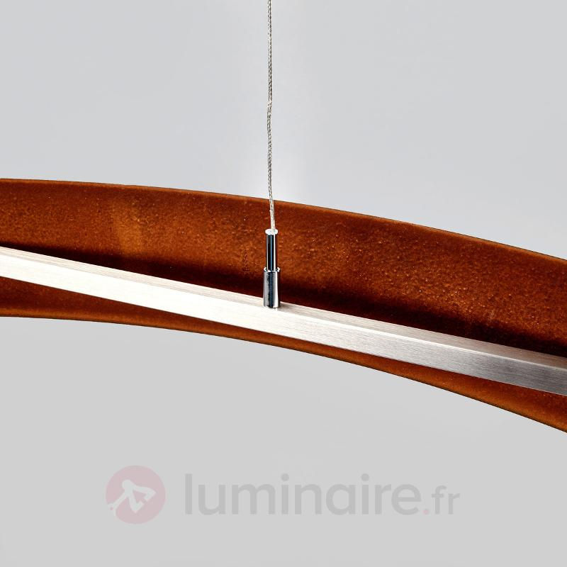 Suspension LED rouille Talu - variable - Suspensions LED
