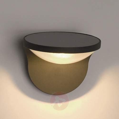 Dusk Solar LED Wall Light Anthracite - Solar Wall Lights
