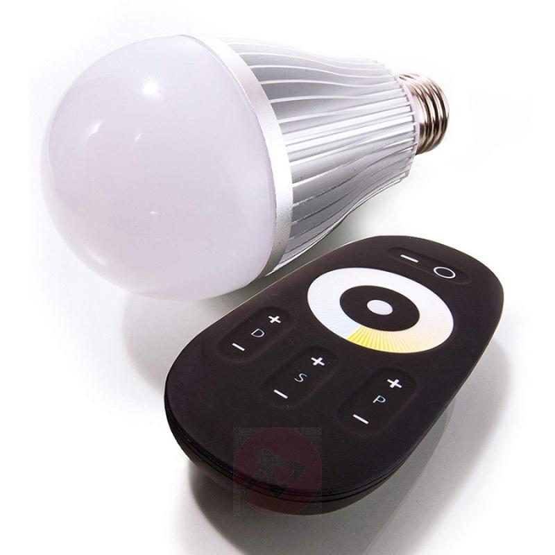 E27 6W LED lamp in bulb shape, multi white - light-bulbs