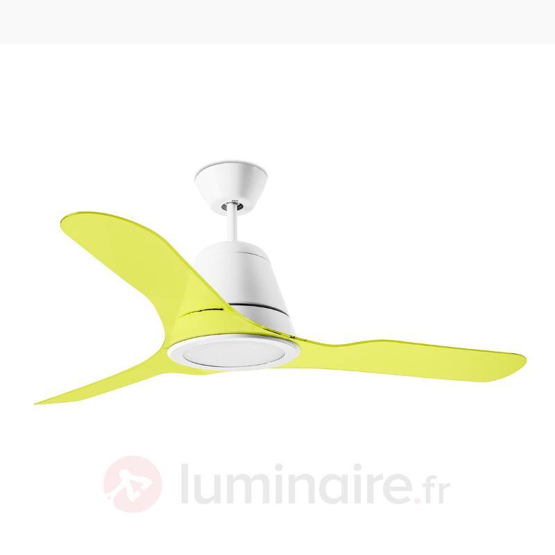 Hélices vert fluo pour ventilateur de plafond Tiga - Ventilateurs de plafond modernes