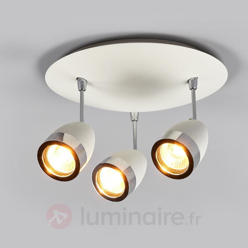 Plafonnier rond à trois lampes Levie GU10 - Spots et projecteurs halogènes
