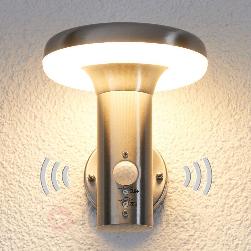 Applique d'extérieur LED Pepina à détecteur de mvt - Appliques d'extérieur avec détecteur