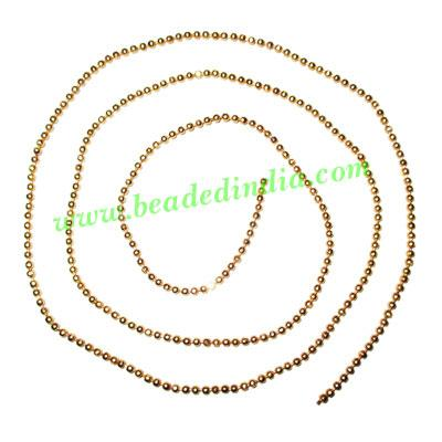 Gold Plated Metal Chain, size: 2mm, approx 77.9 meters in a  - Gold Plated Metal Chain, size: 2mm, approx 77.9 meters in a Kg.