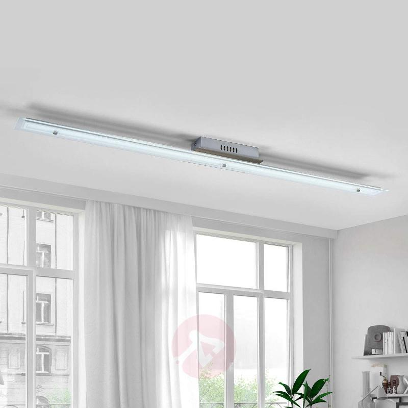 Long LED glass ceiling light Robina - Ceiling Lights