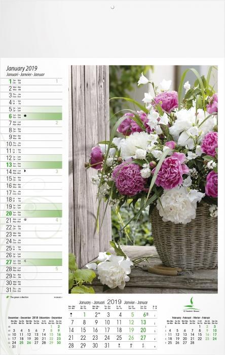Illustrated calendars - Flowers