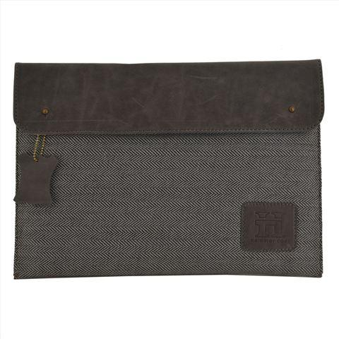 Leather-Mixed Jute Fabric Mac Book Air Sleeve