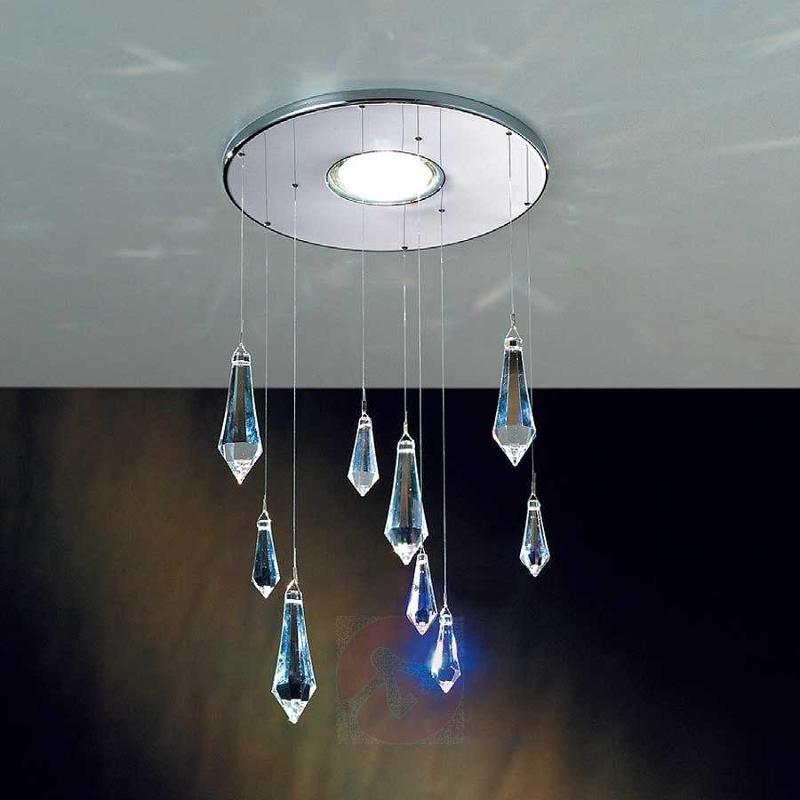 Feng Shui Built-In Light Chrome-Plated Crystals - High-Voltage Spotlights