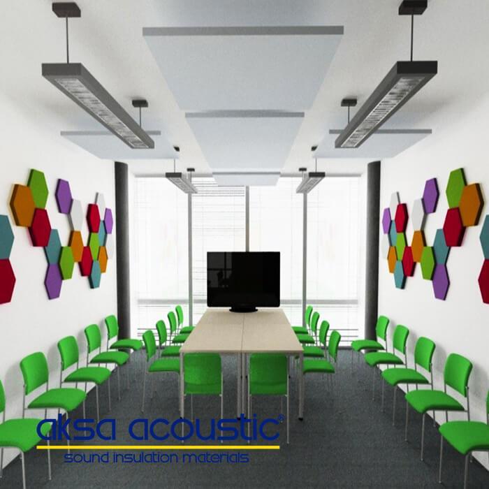 Acoustic Hexagonal Wall Panels - null
