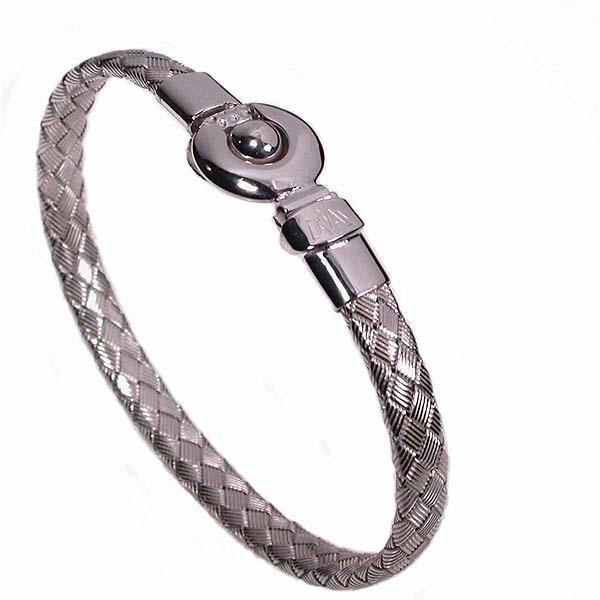 Silver bracelet braided -