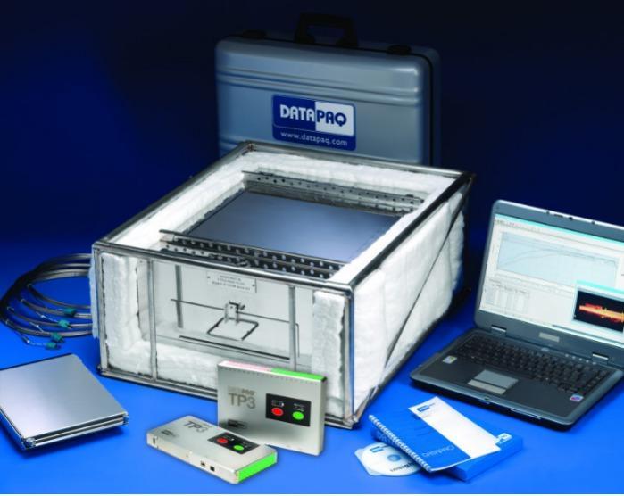 DATAPAQ TB4000/4900 HitzeschutzbehälterMetall/Glas - Hitzeschutzbehälter für die Temperaturprofilsysteme DATAPAQ Furnace Tracker