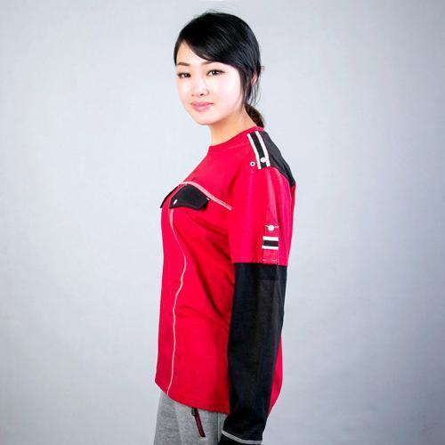 Длинный рукав печатных ребят футболку женщин - Анти-Пилинг, Anti-Shrink, против морщин, дышащий, Eco-Friendly, плюс размер