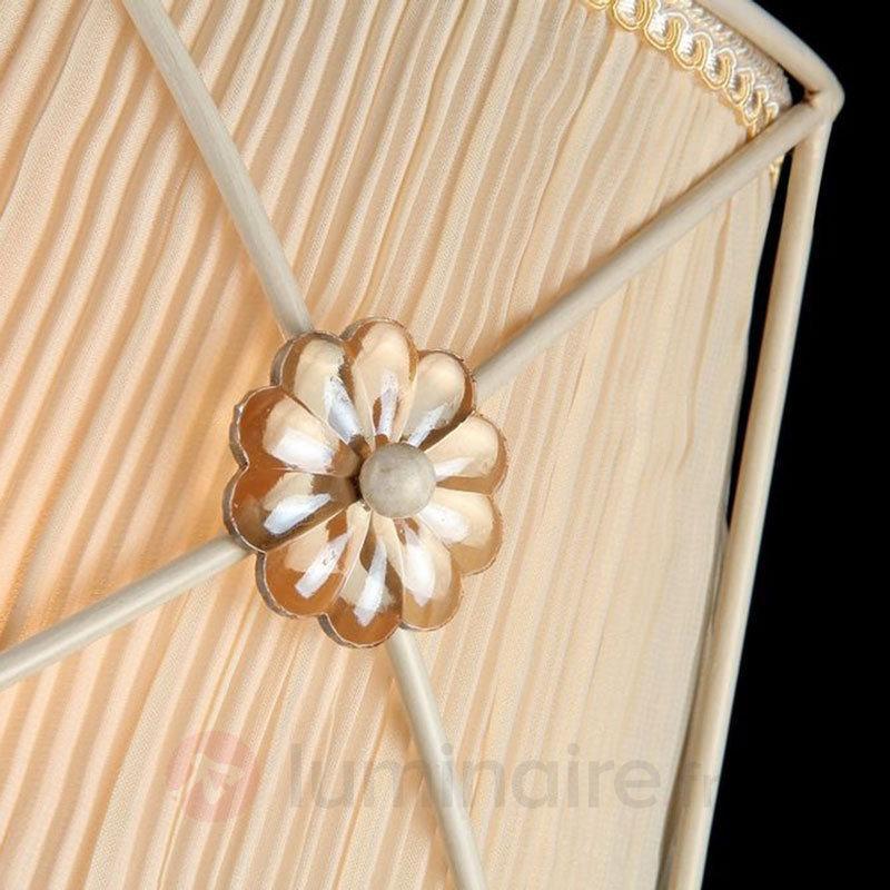 Applique Lea avec de belles fleurs en cristal - Appliques en tissu