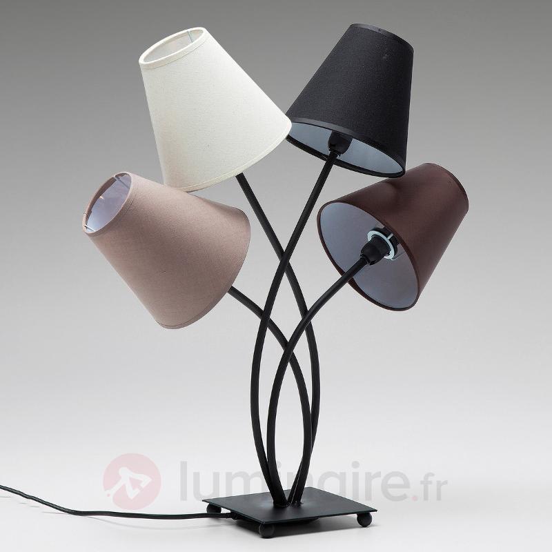 Lampe à poser Flexible Mocca Quattro à 4 lampes - Lampes à poser en tissu