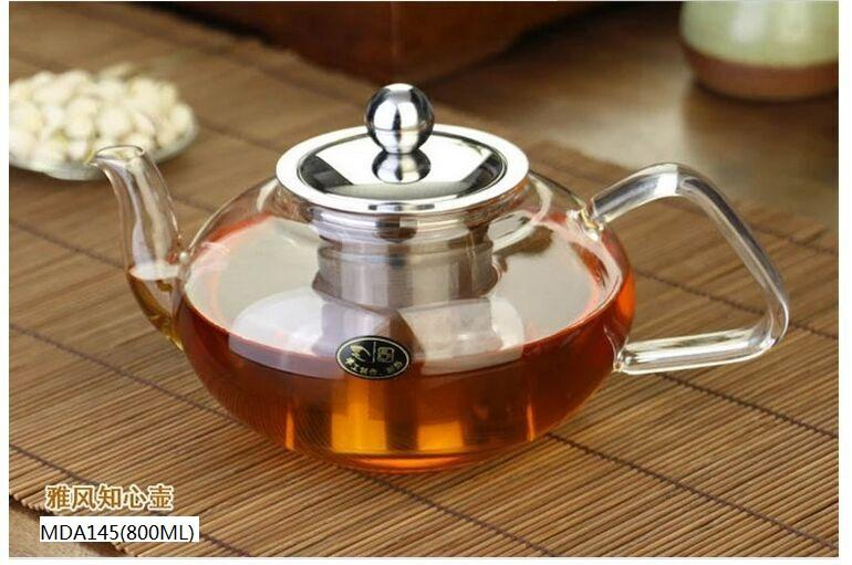 GLASS TEAPOT WITH S/S PARTS  - 850ML