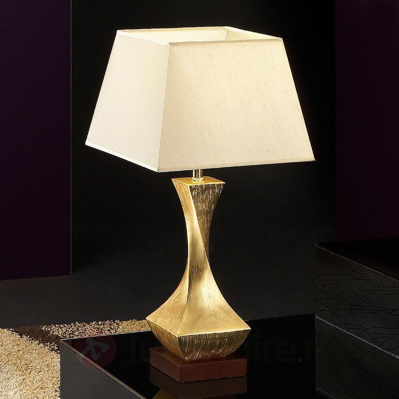 Lampe à poser originale Deco avec pied doré - Lampes à poser en tissu