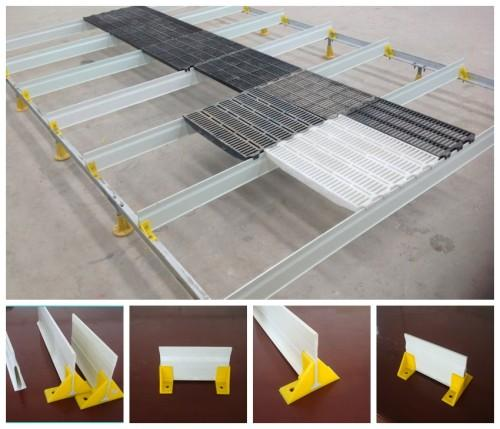 135mm triangle fiberglass/FRP support beam/ profiles beams  - fiberglass/FRP support beam/ profiles beams for pig farrowing crate/poutry cage