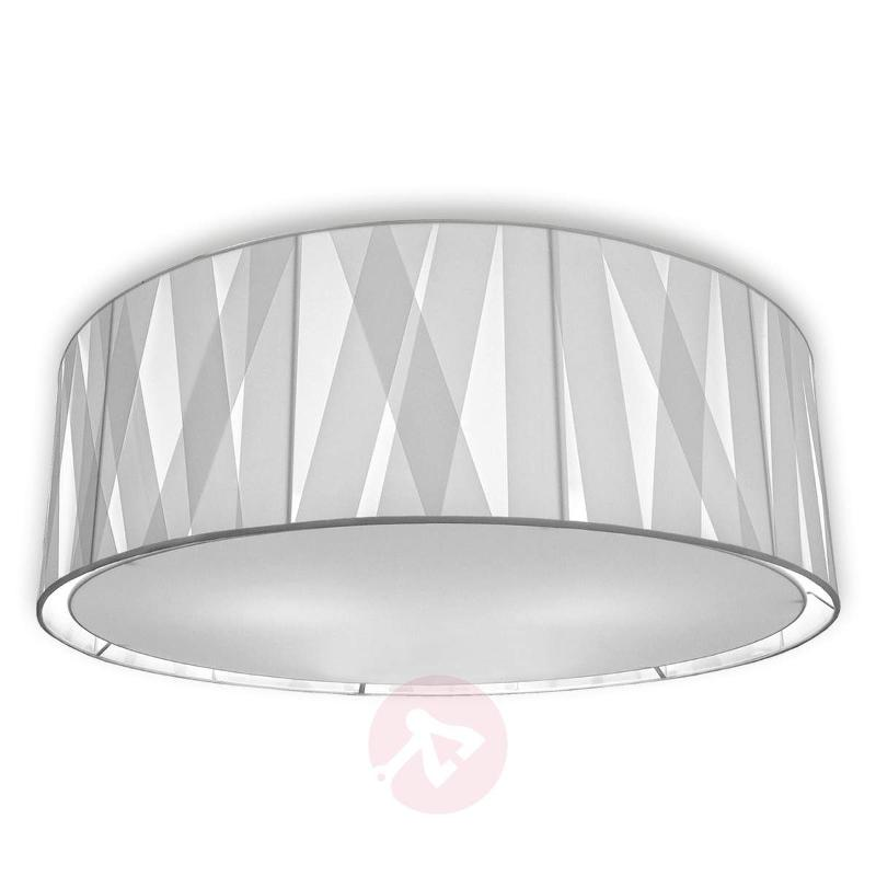 80 cm - fabric ceiling light Cross Lines C80 - Ceiling Lights