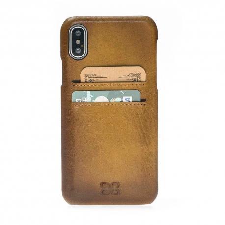iPhone X Ultimate Jacket CC - Funda de Cuero de granel para IPhone X
