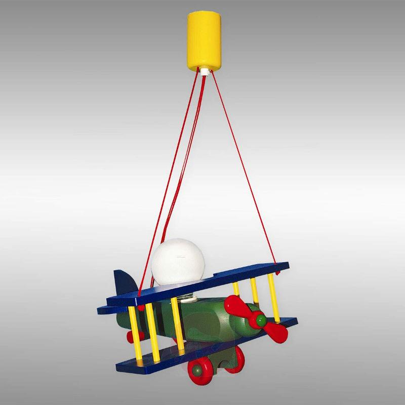 Colourful Aeroplane hanging light - Pendant Lighting