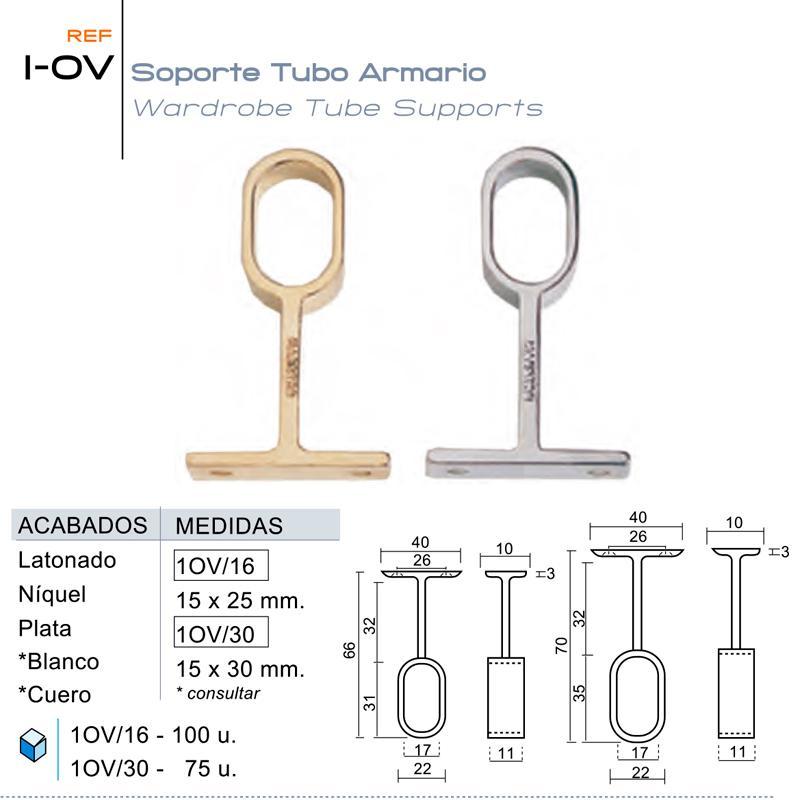 Soporte Tubo Armario 1-OV
