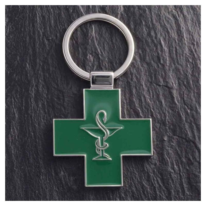Porte-clés ZAMAC pharmacie - Porte-clés métal
