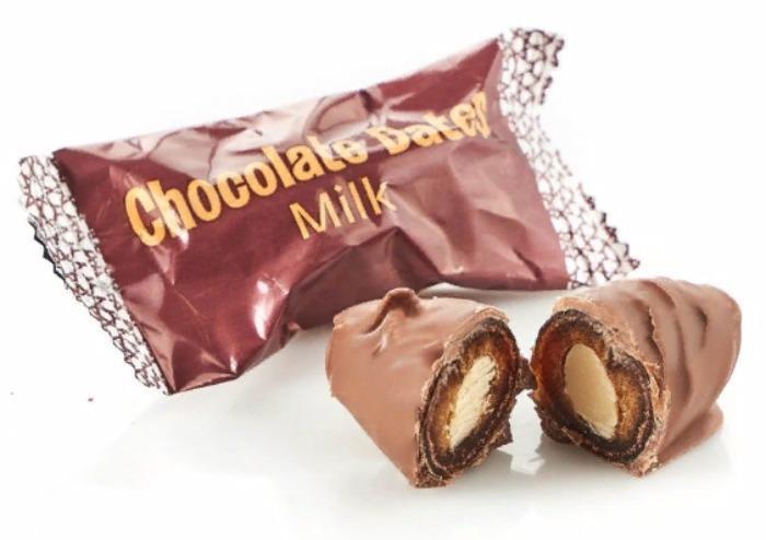 Chocolate dates with almond, Milk 5kg - SULTAN