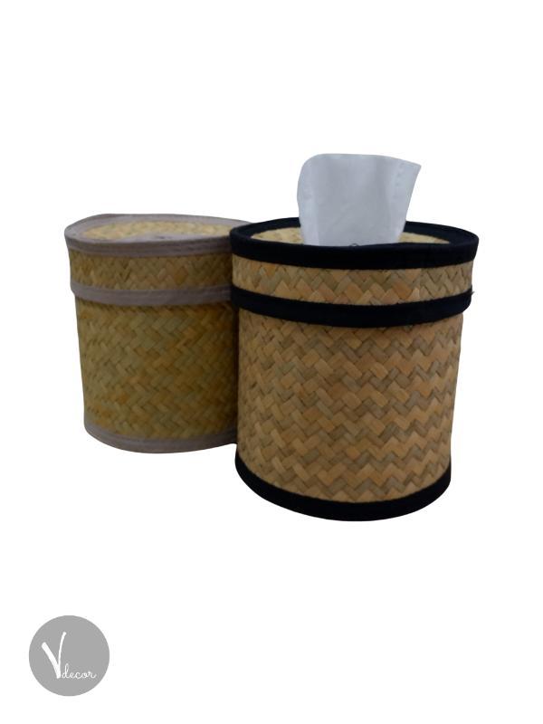 Natural Round Seagrass Tissue Holder - Shop