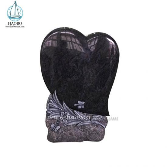 High Quality Tombstone Heart Carved With Flower Design Headstone - Headstone