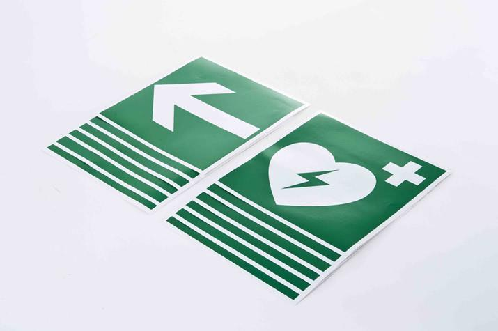 Defibrillator location signs - Accessories Lay users