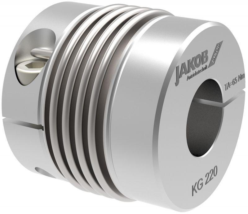 Miniature metal bellows coupling MKG - Miniature metal bellows coupling MKG, optional with radial EASY-clamping hub
