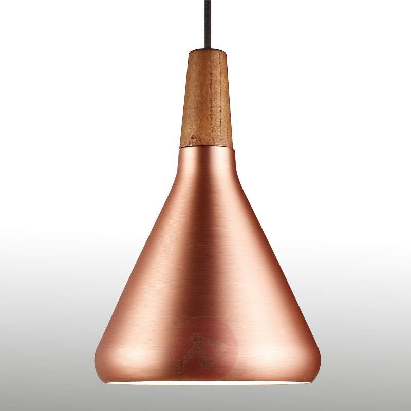 Copper coloured pendant lamp Float 18 cm - Pendant Lighting