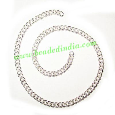 Silver Plated Metal Chain, size: 1x3mm, approx 62.1 meters i - Silver Plated Metal Chain, size: 1x3mm, approx 62.1 meters in a Kg.