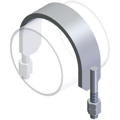 U-bolts and flat steel bolts - Type SBR S235JR, 1.4301