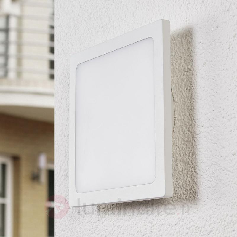 Plafonnier d'extérieur LED blanc Mabella à capteur - null