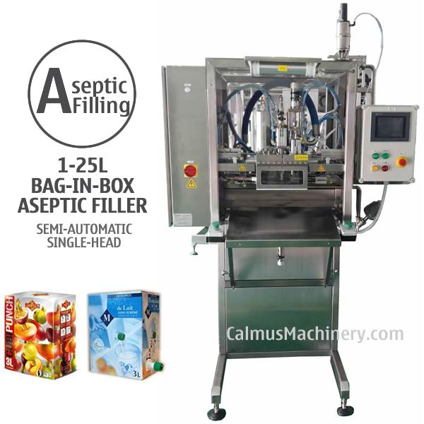 Semi-automatic Single-head Bag in Box Aseptic Filler - Filling 1-25L Bag-in-Box aseptically with Juice, Milk, Sauce, Puree, Concentrate