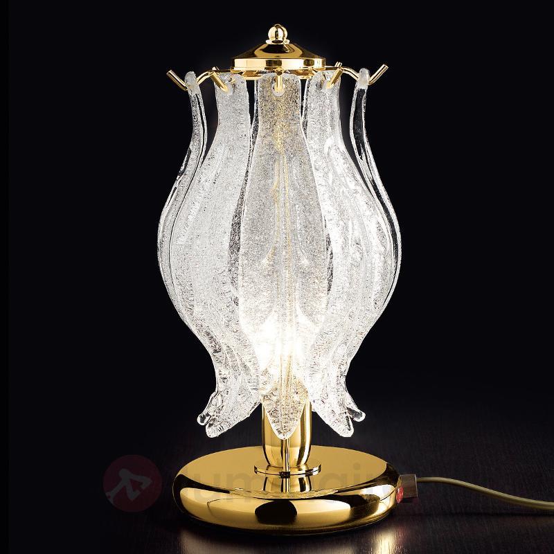 Lampe à poser PETALI avec verre de Murano - Lampes de chevet