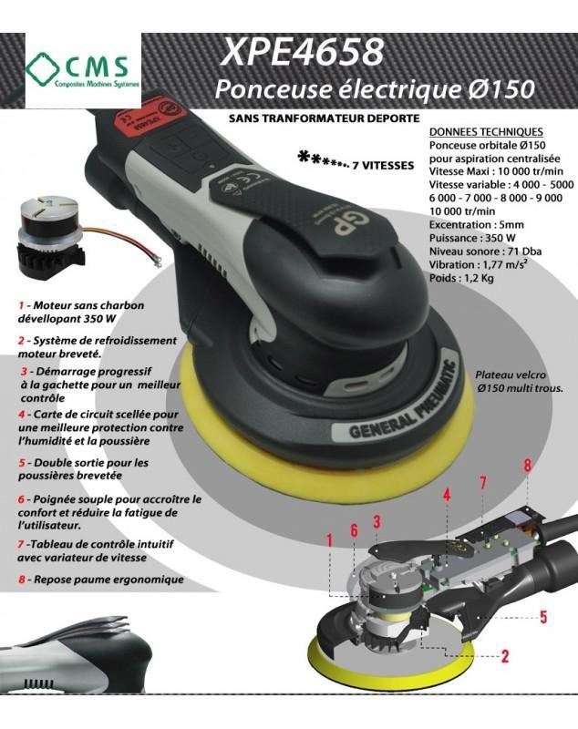 XPE4658 PONCEUSE ELECTRIQUE D150 - OUTILS PNEUMATIQUES