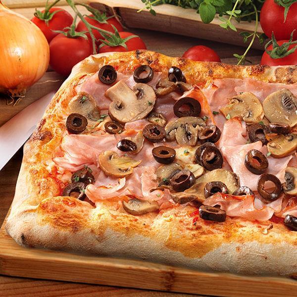 Pizza rettangolare Quattro Stagioni - null