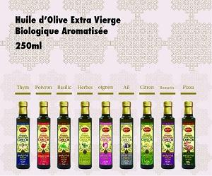 HUILE D'OLIVE VIERGE EXTRA BIOLOGIQUE AROMATISEE
