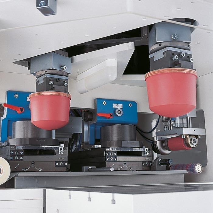 V-DUO Pad Printing Machine Series - Pad printing machine series for two-color printing images.