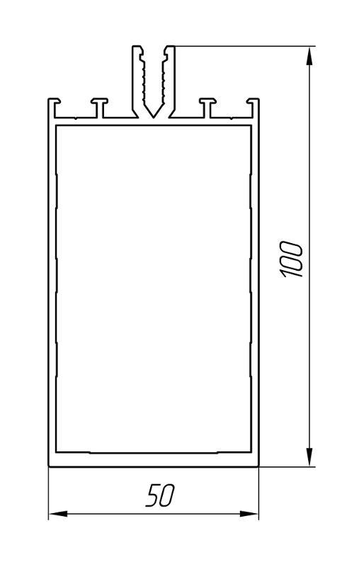 Aluminum Profile For Ventilated Facades Ат-1058 - Construction aluminum profile