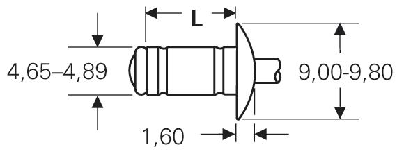 "Blind rivet technology - POP® - ""MGR"" - Multigrip rivets - Domed head"