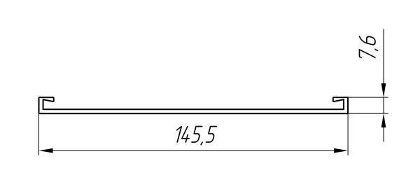 Aluminum Profile For Ventilated Facades Ат-3041 - Construction aluminum profile