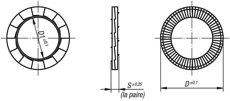Rondelle autobloquante DIN 25201 - Éléments de liaison