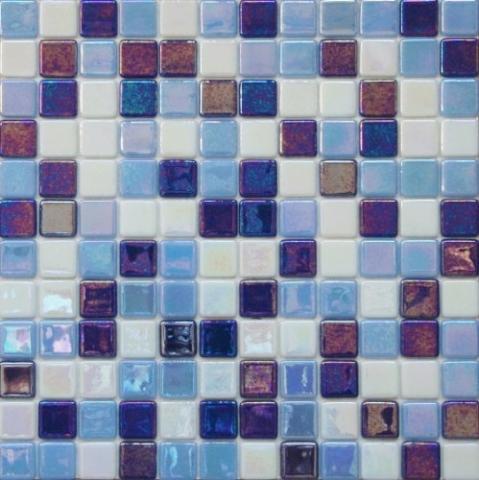 Mix Acquario New - mosaico di vetro madreperlato miscela a tre colori