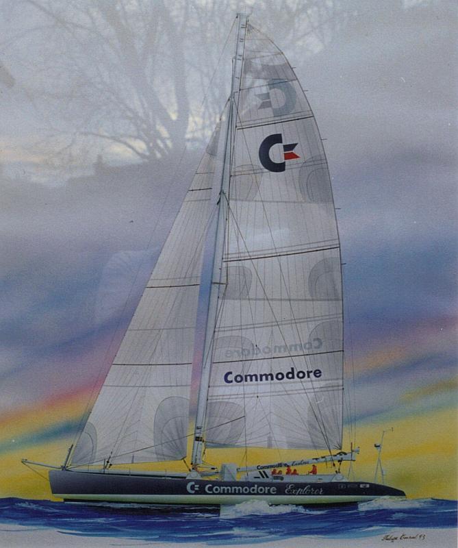 50x65 cm ~ Peinture, Gouache - Commodore Explorer