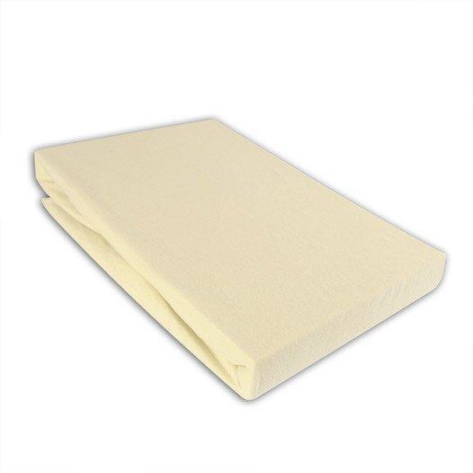 Jersey Spannbettlaken 90-100 x 190-200 cm Farbe: Schnee - null