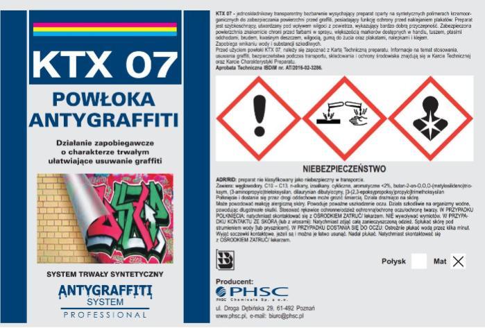 KTX 07 - Powłoka Antygraffiti system trwały -
