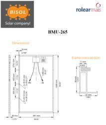 BISOL BMU 265 - BISOL FV pannel 265