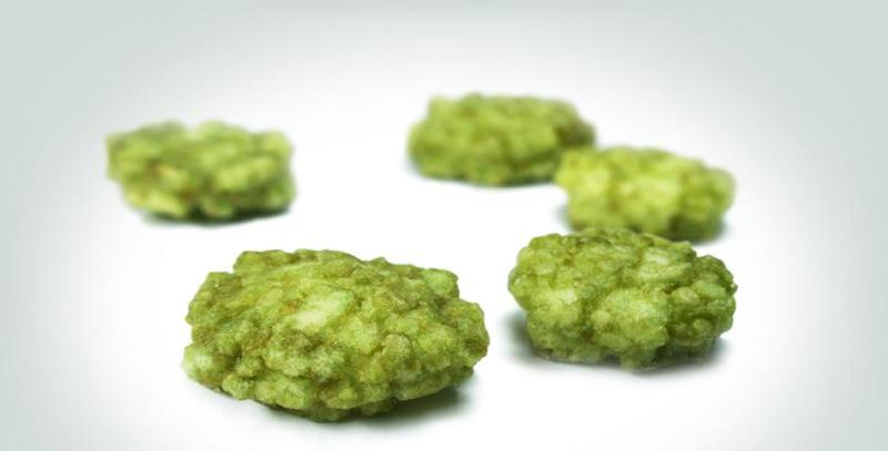 Snacks - Wasabi cracker: A light and spicy snack.